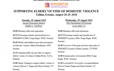 WHOSEFVA Final Conference in Estonia